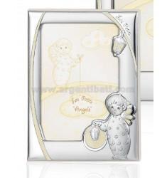 CORNICE ANGELO C/LANTERNA LUMINESCENTE CM 9X13 R/LEGNO ARG.