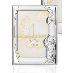 CORNICE ANGELO C/CAMPANELLA LUMINESCENTE CM 9X13 R/LEGNO ARG.