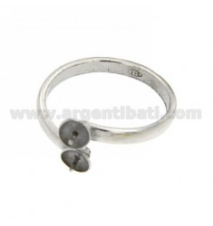 RING 2 SILVER RHODIUM COPPIGLIETTE 925 ‰