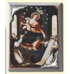 PANEL C / PRINT OUR LADY OF POMPEII CM 16X21 R / WOOD ARG