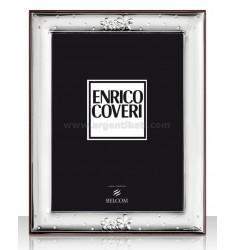 PORTAFOTO FIORI C/STRASS CM 10X15 ENRICO COVERI R/LEGNO LAM. AG