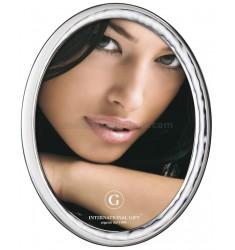 OVAL PHOTO FRAME REFLECTIONS CM 10X15 BIL. AG