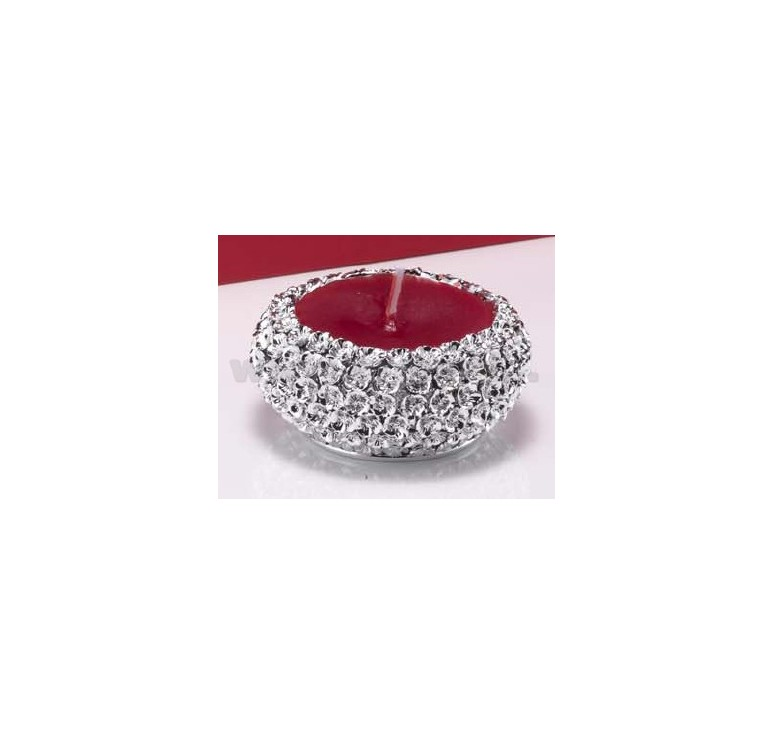 Bugia media dm cm 10 c candela e scatola rossa arg for Bugia candela