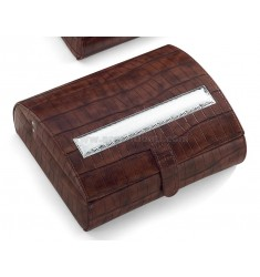 WATCHES BOX LEATHER SEATS STICK TO 10 CM 20X24X9 LAM.
