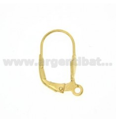 HOOK EARRING HOOK ARGENTOM MONACHELLA CLOSED WITH GOLD PLATED 925