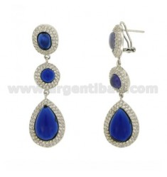 EARRINGS DROP IN AG TIT 925 ‰ AND ZIRCONIA