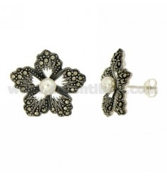 MARKASIT EARRINGS BLUME UND PEARL IN AG TIT 925