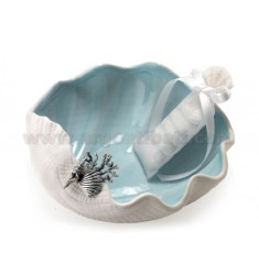 PIATTINO MARE CON DECOR. CONCHIGLIA CM 14.5X5.6