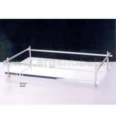 PIPE TRAY 35x20 CM PLEX IN SILVER AND METAL