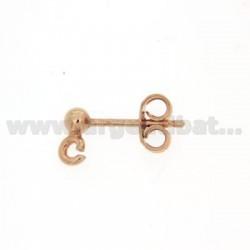 Kugelbolzen.Ohrring mit 3 mm und ATTACK Trikot Silber Kupfer 925