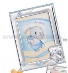 Frame ELEPHANT W / GLITTER CM 13X18 R / WOOD BIL.