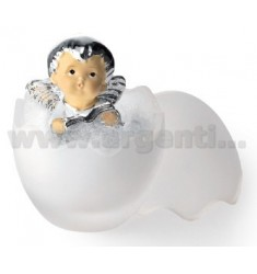 EGG GLASS ANGEL WITH BOOK H CM 7.5