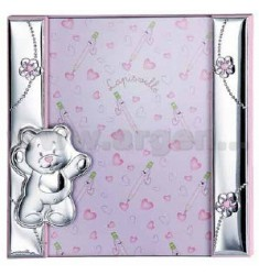 Frame A DAY BEAR WITH FLOWERS 20X20 CM R / WOOD LAM.