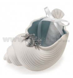 PIATTINO MARE CON DECOR. CONCHIGLIA CM 11X6.5
