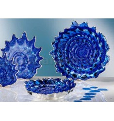 BLUE SILVER SHELL BOWL 32 CM 999/1000