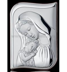 SACRED SAG MADONNA WITH BABY CM 9X13 R / WOOD LAM AG