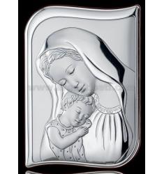 SACRED SAG MADONNA WITH BABY CM 23x33 R / WOOD LAM AG