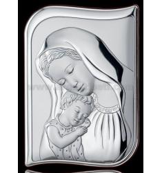 SACRED SAG MADONNA WITH BABY CM 17X24, 5 R / WOOD LAM AG
