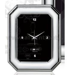 SVEGLIA VINTAGE LUCIDA OTTAGONALE CM 10X15 R/LEGNO LAM. AG