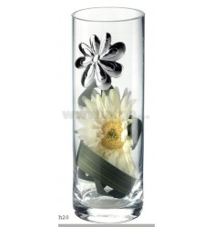 GLASS JAR bud DAISY WITH DECORATION 7X20 CM LAM AG