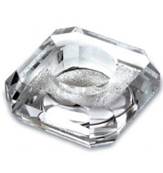 PORTACANDELAM T-LIGHT CRYSTAL LIGHT 8X8 CM H.