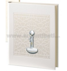 MICHELLE CHRISTENING ALBUM 25X30 CM LEATHER LAM.
