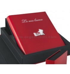 GRADUATION PARCHMENT RED ALBUM 20X25 CM C / BOX ARG.