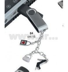 PENNA USB 8GB C/CHARMS GIRL