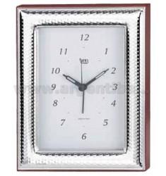 CLOCK CM 9X13 GLOSSY HAMMERED R / WOOD ARG.