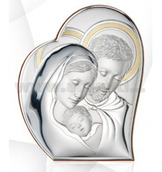 SAG HOLY HOLY FAMILY CM 34X42, 5 WITH GOLD R / WOOD LAM.