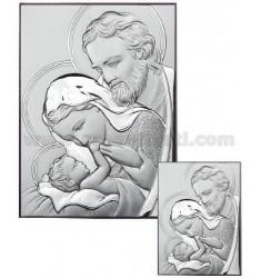 ICON THE HOLY FAMILY SATIN 22X30 CM ARG.