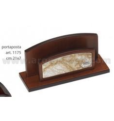 PORTACARTE IN LEGNO CM 21X7 C/DECORO ATLANTE ARG.