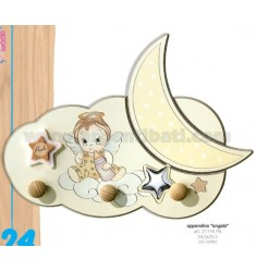 HOOK KIDS WOODEN ANGEL WITH BELLS CM 34.5 X25, 5 LAM.