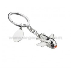 KEY PLANE WITH LED RED AND SILVER PLATE