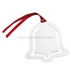 DECORATION BELL SILVER 8X8 CM