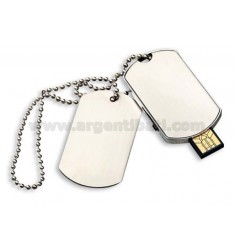 CHIAVETTA USB 4 GB MILITARY CON CATENA