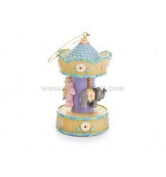 MINI CAROUSEL CHILD H 9 CM WITH BELLS