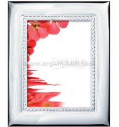 Frame SHINY EMBROIDERY 13X18 CM R / WOOD MIRROR WITH ARG.