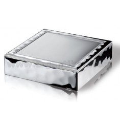 JEWELLERY BOX L &39WATER SATIN 18X18 CM ARG.