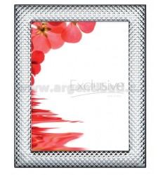 NARROW FRAME QUILT 13X13 CM R / WOOD MIRROR WITH ARG.