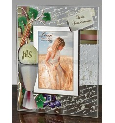 FRAME CRYSTAL PRINTED COMMUNION CM 6X9 R / WOOD ARG.