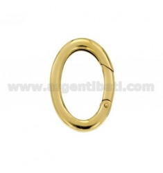 SNAP CLIMBER ELLIPSE MM 30X20 IN GOLD PLATED AG TIT 925 ‰