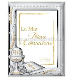 CORNICE STRETTA LA MIA PRIMA COMUNIONE CM 13X18 R/LEGNO BIANCO ARG.