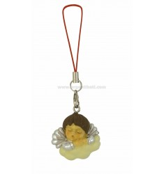 MOBILE PENDANT CORD RED ANGEL ON A CLOUD &ltBR&gt
