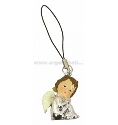 MOBILE PENDANT CORD BLACK ANGEL SEATED NUDE &ltBR&gt