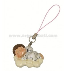 MOBILE PENDANT CORD PINK ANGEL ON A CLOUD &ltBR&gt
