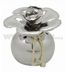 SMALL JAR WITH DALIA PERFUMING SILVER D.