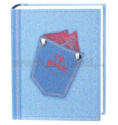 18th BIRTHDAY ALBUM JEANS 20X25 CM LAM.AG