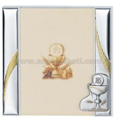 Frame A DAY COMMUNION CM 20X20 R / WHITE WOOD PLAQUE BILAMINATED AG