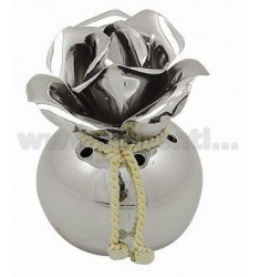 PERFUMING SMALL JAR WITH SILVER ROSE D.CM 6.5